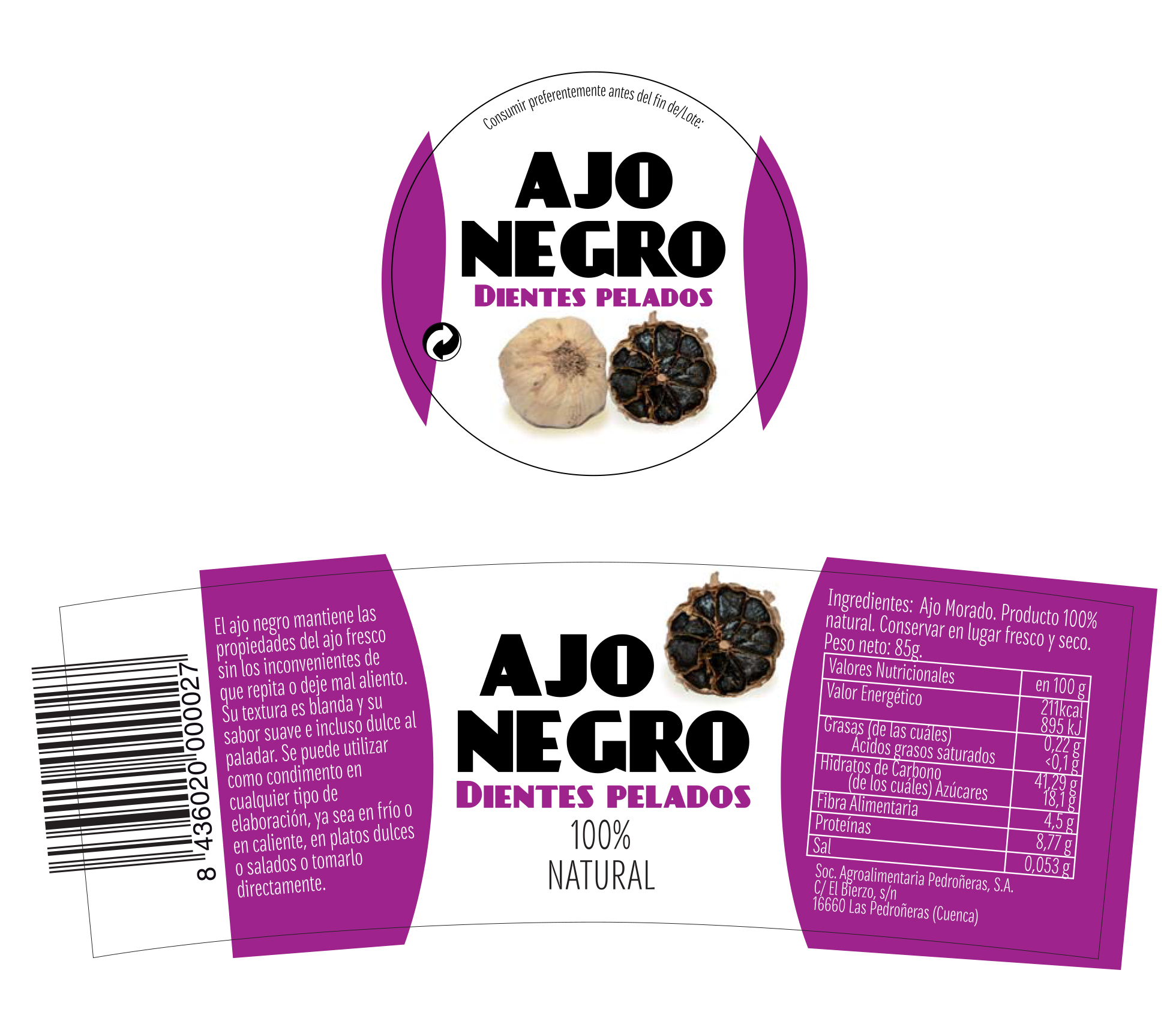 diseño de packaging marca ajo